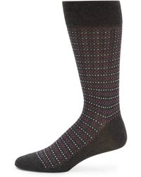 Saks Fifth Avenue Black Label Fair Isle Socks - Lyst