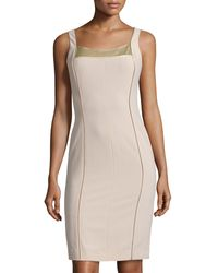 Philosophy di Alberta Ferretti Silk-Trim Sheath Dress - Lyst