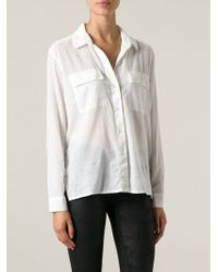 James Perse Chest Pocket Shirt - Lyst