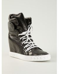 Casadei Hitop Wedge Sneakers - Lyst