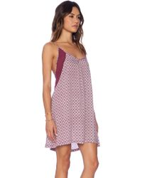 Tigerlily Purple Bambou Dress - Lyst