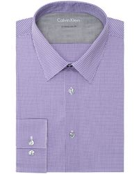 Calvin Klein Extreme Slim Fit Micro Check Dress Shirt - Lyst