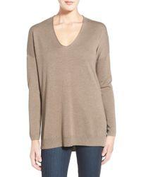 Trouvé | V-neck Tunic Sweater | Lyst