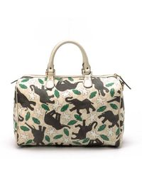 Gucci Preowned Ivory Elephant Boston Bag - Lyst