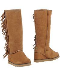 Colors Of California Boots khaki - Lyst