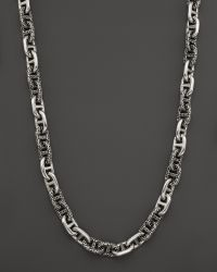John Hardy | Men's Classic Chain Silver Large Anchor Rode Link Necklace | Lyst