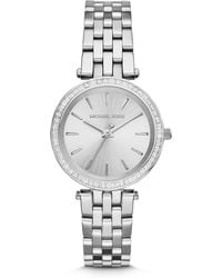 Michael Kors Mini Darci Stainless Steel Glitz Bracelet Watch - Lyst