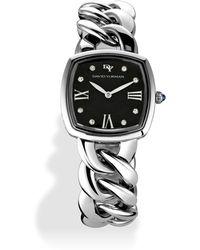 David Yurman Albion 27Mm Stainless Steel Quartz Watch With Diamonds silver - Lyst