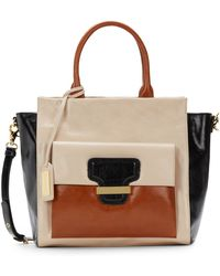 Badgley Mischka Dakota Shine Colorblock Satchel - Lyst
