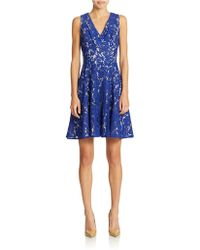 Eliza J Lace Fit And Flare Dress - Lyst