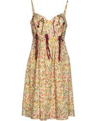 John Galliano Knee-Length Dress - Lyst