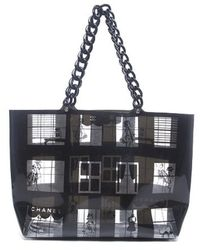 Chanel Preowned Transparent Vinyl No 5 Large Tote Bag - Lyst