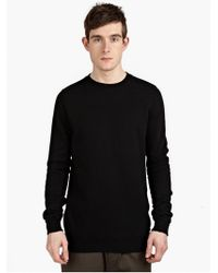 DRKSHDW by Rick Owens Men'S Black Cotton Sweatshirt - Lyst