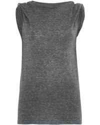 Isabel Marant Dewey Safety-Pin T-Shirt - Lyst
