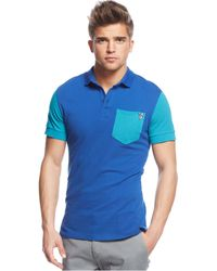 Versace Jeans Colorblocked Polo - Lyst