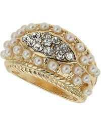 TOPSHOP - Stone Decorated Ring - Lyst