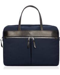 Knomo | Hanover 14 Navy Slim Lightweight Briefcase | Lyst
