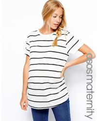 Asos Maternity Exclusive T-Shirt In Breton Stripe - Lyst