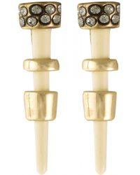 House Of Harlow 1960 Rift Valley Stud Earrings white - Lyst
