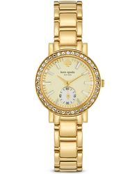 Kate Spade Pave Gramercy Mini Watch 27mm - Lyst