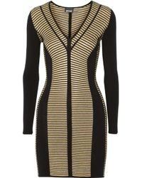 Just Cavalli Metallic Striped Stretchknit Dress - Lyst