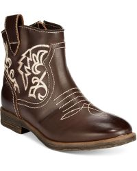Mojo Moxy - Dolce By Mojo Tally Western Ankle Booties - Lyst