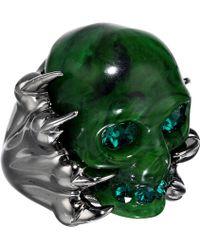Alexander McQueen Skull Plexi Ring - Lyst