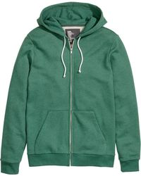 H&M Green Hooded Jacket - Lyst