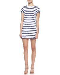 Alice + Olivia Stefan Striped Shortsleeve Dress Alice Olivia - Lyst