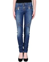 Roberto Cavalli Blue Denim Pants - Lyst