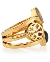 Tory Burch Livia Golden Stackable Rings - Lyst