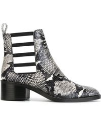 Each x Other - Snake Skin Print Cut-out Boots - Lyst