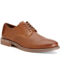 Calvin Klein Onyx Perforated Leather Oxfords - Lyst
