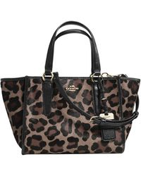 Coach Mini Crossby Carryall Panther Bag - Lyst