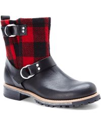 Woolrich Black & Red Baltimore Short Boots - Lyst