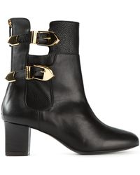 Moschino Cheap & Chic Buckle Detail Boots - Lyst