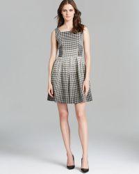 Raoul Lori Grid Print Dress - Lyst