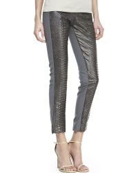 Kaufman Franco Pythonfront Cropped Pants - Lyst