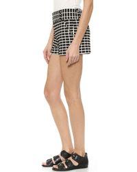 Alice + Olivia 'Cady' Grid Print Jacquard Shorts - Lyst