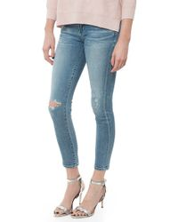 Citizens of Humanity Rocket Highrise Skinny Crop blue - Lyst