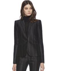 Gucci Pinstripe Silk Wool Jacket - Lyst
