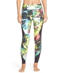 Pink Lotus - 'stems' Print Performance Leggings - Lyst