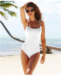 Anne Cole Classic One-Piece Swimsuit - Lyst