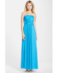 JS Boutique Embellished Chiffon Fit & Flare Gown - Lyst