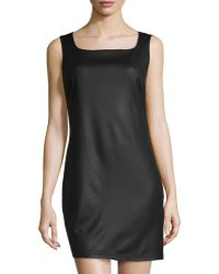Max Studio Fauxleather Sheath Dress - Lyst