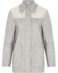 See By Chloé Cady-paneled Woven Coat - Lyst