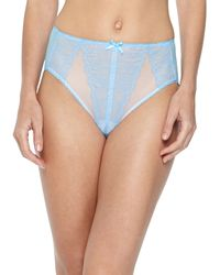 Wacoal Retro Chic Highcut Briefs Alaskan Blue - Lyst