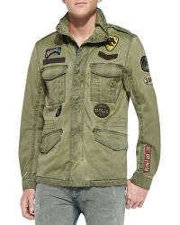 Diesel Jamma Military Jacket W Patches - Lyst