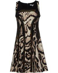 Diane Von Furstenberg Brown Short Dress - Lyst