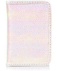 Topshop Metallic Oyster Card Holder - Lyst